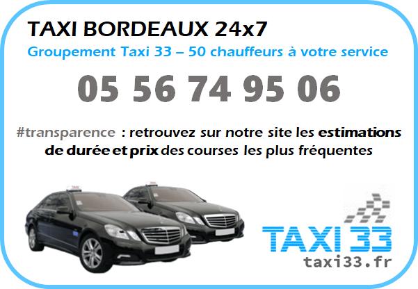 Taxi Bordeaux - Estimation prix course
